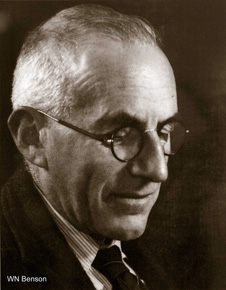 William Noel Benson, DSc, FRS, 1885-1957. Professor of Geology 1916-1949. Photograph in Geology Museum, University of Otago