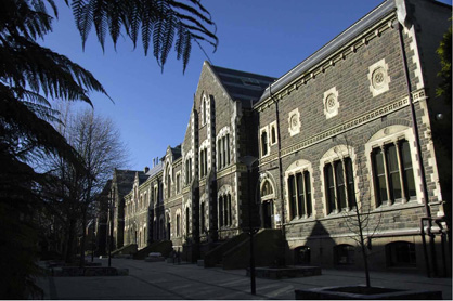 Geology Building, the Quadrangle, University of Otago, viewed from the south
