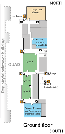 Map of the Ground Floor of the Geology Building
