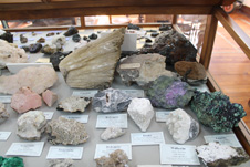 Mineral collections in the geology museum