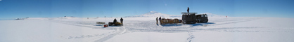 Antarctic seismic survey panoramic