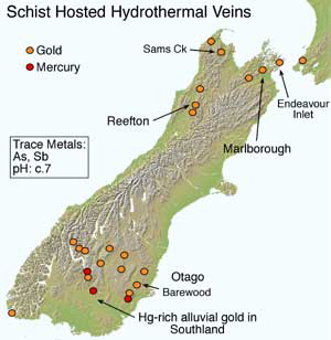 schist hosted hydrothermal veins