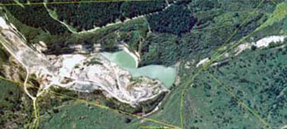 Aerial view of Wangaloa coal mine
