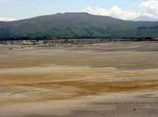 Tailings impoundment at Macraes Mine
