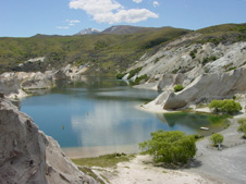 The Blue Lake alluvial gold mine, St Bathans, Central Otago 226px