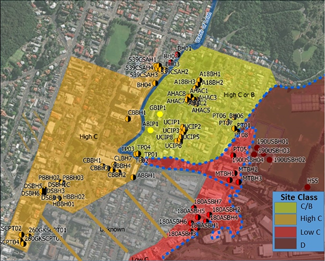 Seismic safety map of Otago campus image