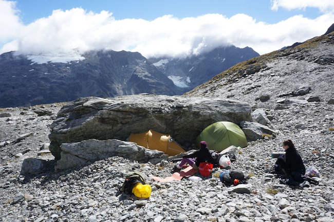 Base camp in the Southern Alps image