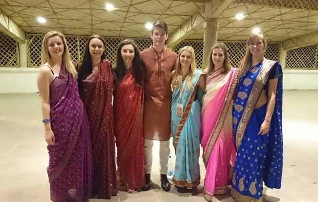 Otago Pharmacy students at the IPSF world congress in Hyderabad, India