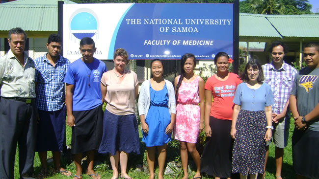 First-year medical students at the National University of Samoa