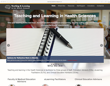 Teaching and Learning in Health Sceinces (screenshot)