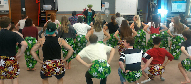 Health professional programme students learn traditonal dancing image