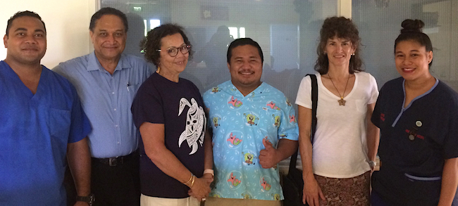 Niue Ministry of Health staff and colleagues at Niue Foou Hospital image