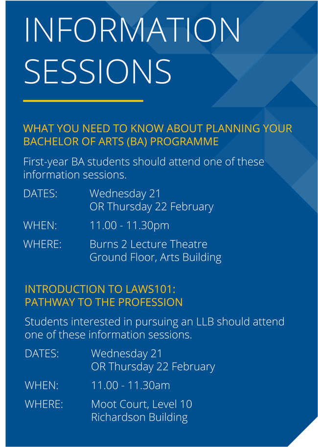 Info sessions poster