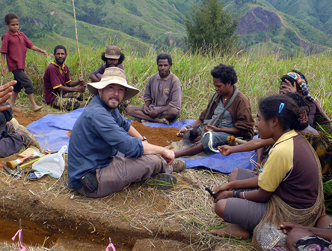 Dr Ben Shaw and Waim locals