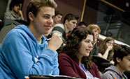 Students in St David lecture theatre thumbnail