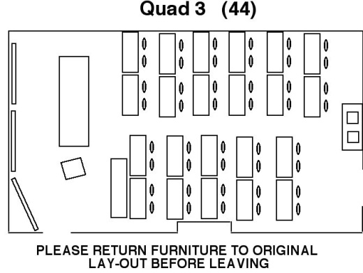 Quad 3 Seminar Room floor layout