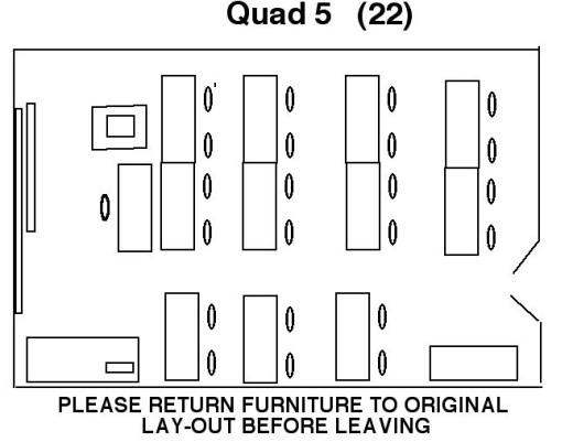 Quad 5 Seminar Room floor layout