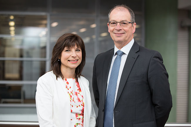 Alison Jory and Mike Harte, ITS Divisional Office