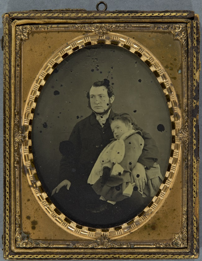 Portrait of John Richard Jones and daughter
