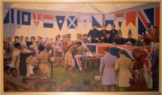 Painting of the treaty signing ceremony