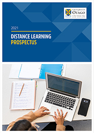 2021 Distance Learning Prospectus cover