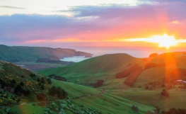Sunrise over Otago Peninsula
