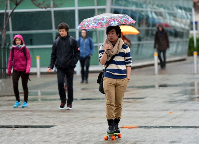students in rain_47337
