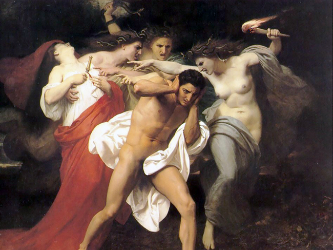 The Remorse of Orestes_by William-Adolphe Bouguereau (1862)