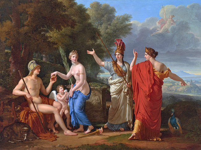 The Judgment of Paris_by François-Xavier Fabre (1808)