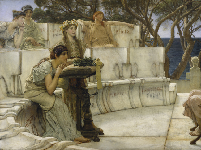 Sappho and Alcaeus_by Lawrence Alma-Tadema (1881)_