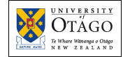University of Otago logo on transparent 186px-wide background