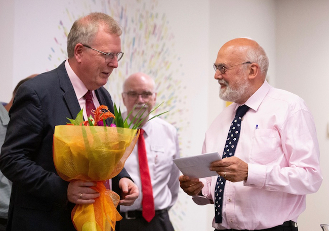 Paul Brunton and Barry Taylor farewell presentation image