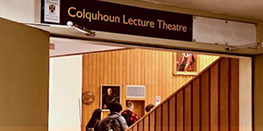 The entrance to Colquhoun Lecture Theatre