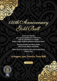150th Anniversary Gold Ball Digital Poster