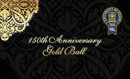 150th Anniversary Gold Ball invitation graphic