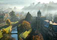 Mist surrounds the University campus, photo by Michael Robertson.