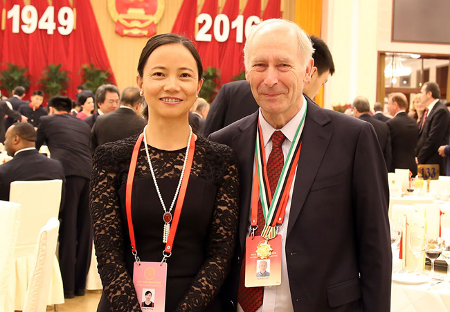 Dr-Ian-Hall-&-wife-Prof-XIONG-Wei-Ping---Dinner-in-the-Great-Hall-image