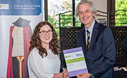 3MT winner Victoria Purdy and Deputy Vice-Chancellor Richard Blaikie thumbnail.