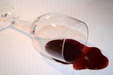 Spilt wine image