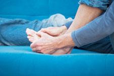 Sore gout foot