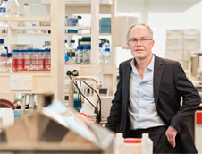 Professor Greg Cook in lab