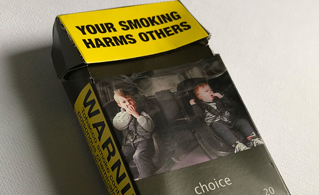 Cigarette packaging image