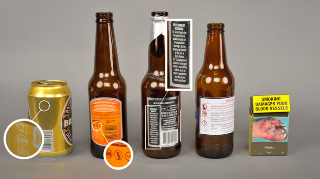 Alcohol warnings image