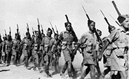 20th Battalion infantry marching in Baggush, Egypt, September 1941 thumb