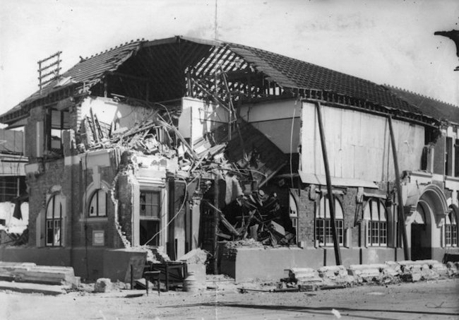 Earthquake damage Hastings Post Office 1931