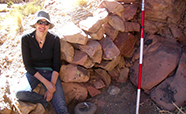 Melanie Miller at the Cueva del Chileno (Bolivia) excavation in 2010 thumbnail