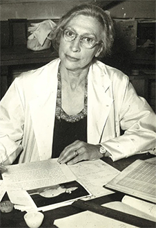 Dr Muriel Bell at work image