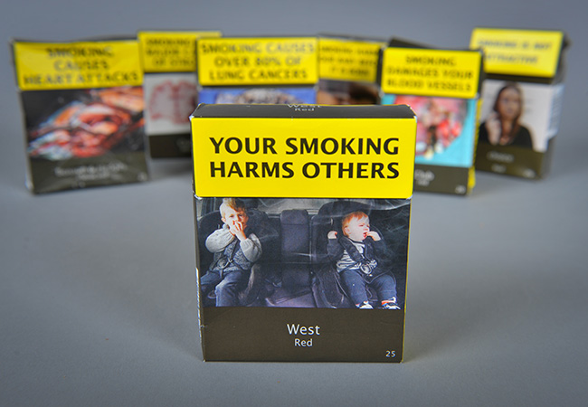 Plain tobacco packaging image