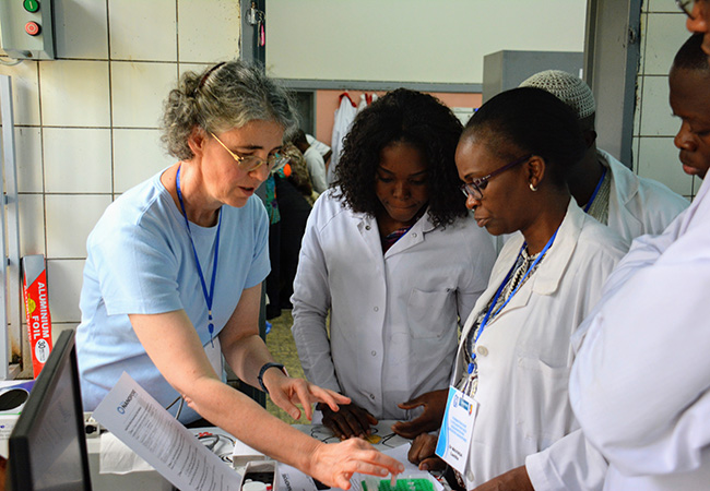 Jo-Ann Stanton training scientists in the Congo 2020 image