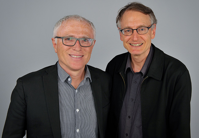 Professor Michael Baker (left) and Professor Nick Wilson (right) image 2020